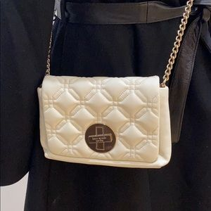KATE SPADE Crossbody Cream Quilted Leather